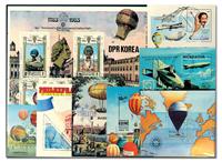 Balloons, Zeppelins 10 souvenir sheets and sheets