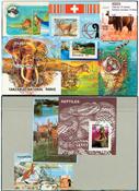 Wild animals 10 souvenir sheets