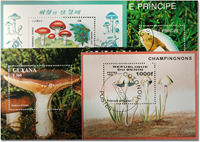 Mushrooms 4 different souvenir sheets