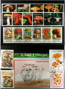 Mushrooms 4 souvenir sheets and 7 sets