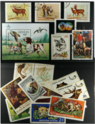 Hunting 1 souvenir sheet and 20 stamps