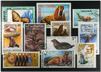Sæler 11 forskellige frimærker