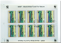 WWF fish 3 sheets of 10 stamps