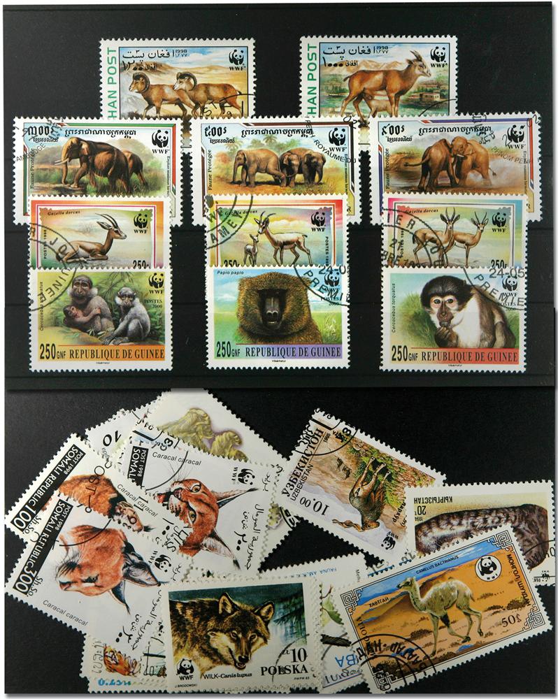 WWF 40 forskellige frimærker