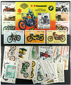 Motorcycles 1 souvenir sheet and 41 different stamps