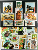 African animals 3 souvenir sheets and 33 different  stamps