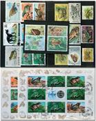 Frøer 2 miniark og 22 frimærker