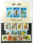 Bees 1 souvenir sheet, 1 set and 19 different stamps