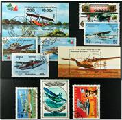 Frimærkepakke - Vandflyvere 2 miniark og 8 frimærker
