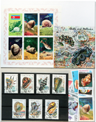 Clams 1 souvenir sheet, 2 sets and 20 stamps