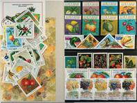 Frugter 3 miniark, 1 sæt, 46 forskellige frimærker