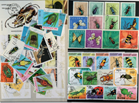 Insects 4 souvenir sheets, 2 sets and 32 stamps