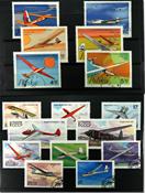 Fly 3 sæt og 8 frimærker