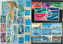 Flyselskaber 6 miniark, 1 sæt og 37 forsk. frimærker