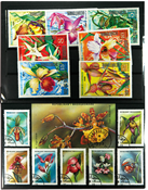 Orchids 1 souvenir sheets, 5 sets and 40 d different stamps