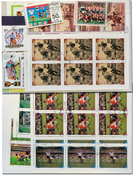 FIFA World Cup History - 11 souvenir sheets and 4 sets