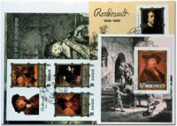 Rembrandt 4 souvenir sheets