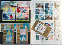 Sport sailors 3 souvenir sheets and 2 sets