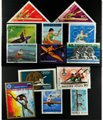 Kayak 13 different stamps