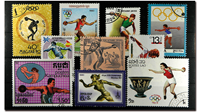 Discus throw 10 different stamps