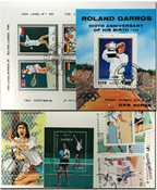 Tennis 4 souvenir sheets and 17 stamps