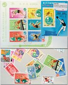 Table tennis 2 souvenir sheets and 13 stamps