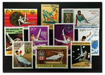 Gymnastik - 10 forskellige frimærker