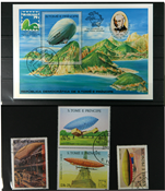 Zeppelin St. Tome 1 souvenir sheet and 3 sets