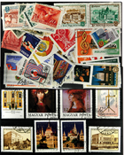 Hungary 100 diff. stamps in complete sets - III
