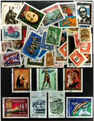 Hungary 100 diff. stamps in complete sets - IV