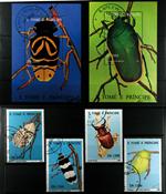 Insekter St. Tome 2 miniark og 1 sæt