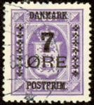 Danmark - 7 øres provisorie 1926