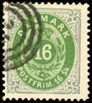 Danmark 1871 - 16 skilling - AFA nr. 20 - Stemplet