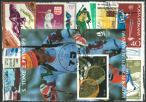 Biathlon 2 miniark og 31 frimærker