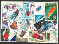 Bob sled 3 souvenir sheets and 25 stamps