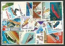 Skihop 2 miniark og 25 frimærker