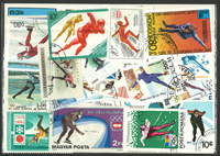 Speed skating 2 souvenir sheets and 40 stamps