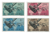 Luxembourg 1949 - Mint hinged - Michel 460-63
