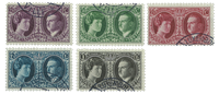 Luxembourg 1927 - Cancelled - Michel 182-86