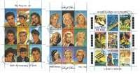 Monroe, Presley, Movie 3 mini sheets