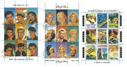 Film - 3 småark med: Marilyn Monroe, Elvis Presleyog film helte