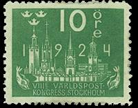 Sweden 1924 - Facit no. 197 World postal congress
