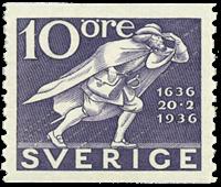 Sweden 1936 - Facit no. 247a UPU 300th anniversary