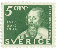 Sweden 1936 - Facit 246c - The Postal service 300 years anniversary