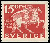 Sverige Facit 248a 1936 postvæsenets 300 års jubilæum