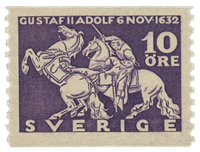 Sweden 1932 - Facit no. 234a - King Gustaf II the death of Adopph at Lützen