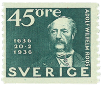 Sweden 1936 - Facit 254 - The Postal Service 300 years anniversary