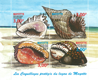 Mayotte - Conches - Mint souvenir sheet