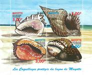 Mayotte - Konkylier - Postfrisk miniark