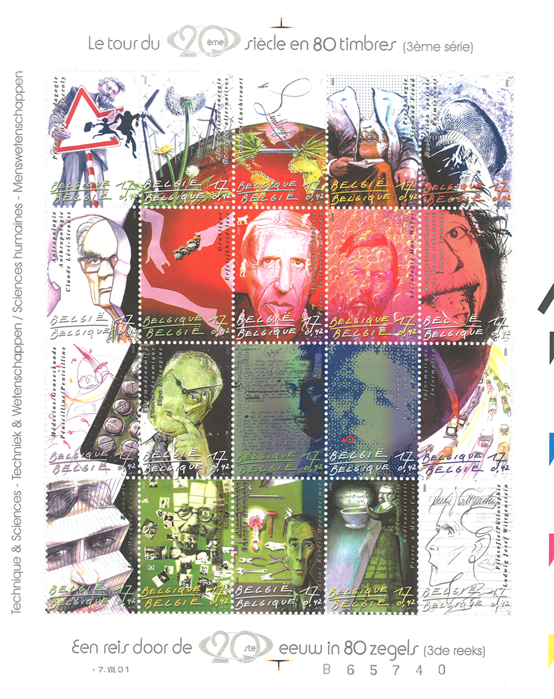 Belgien - Det 20. århundrede - Postfrisk ark